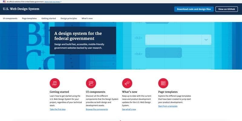 U.S. Web Design System