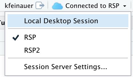 The Connection Status Dropdown