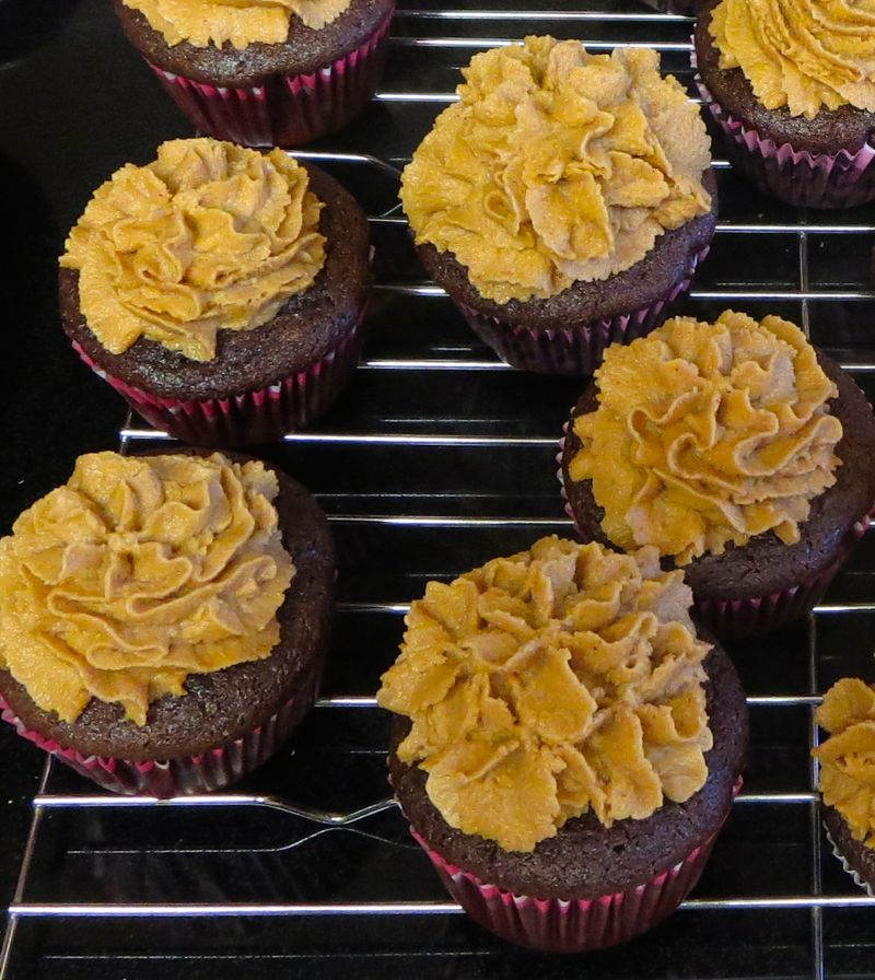 VEgan Gluten-free Chocolate Peanut Butter Cupcakes