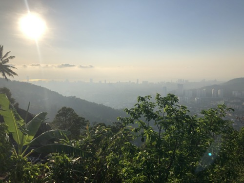 View from Penang hill hike