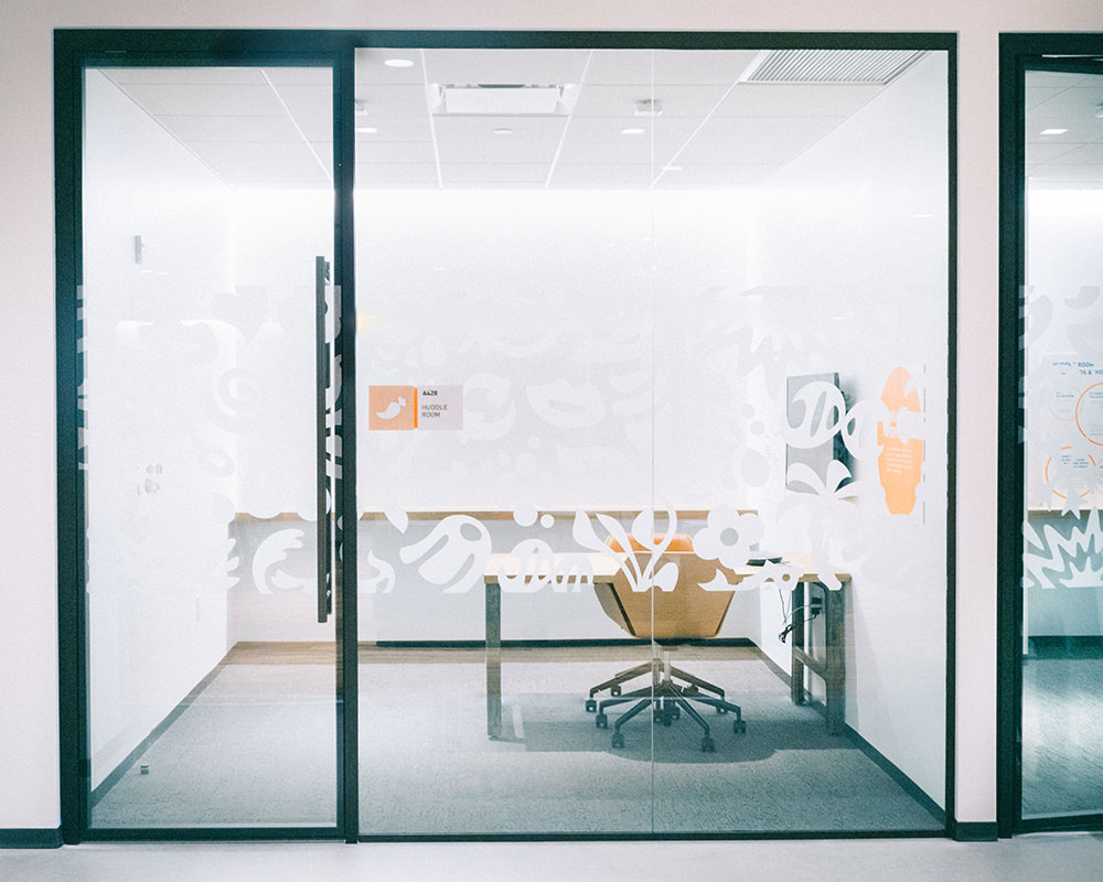 Glass Doors and Walls With Decorative Film