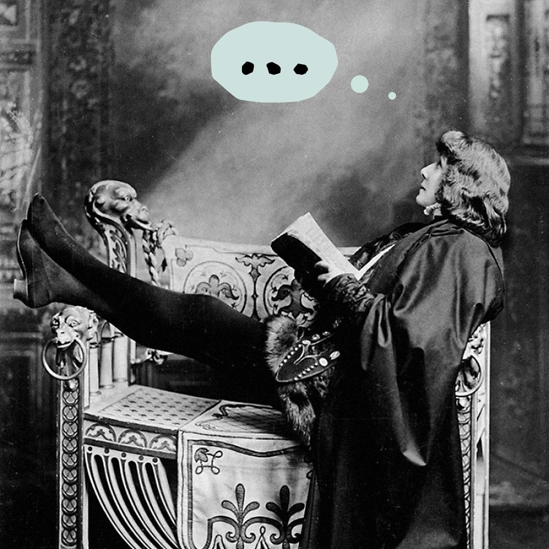Актриса Сара Бернар вобразе Гамлета, 1899. Иллюстрация: Букмейт