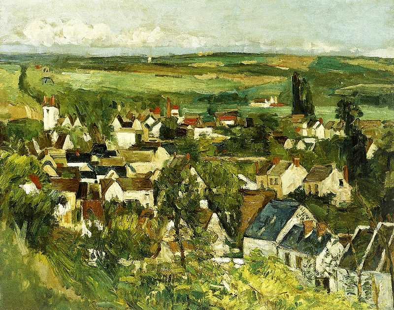 'Panorama d'Auvers sur Oise' (1873–1875) by Paul Cezanne