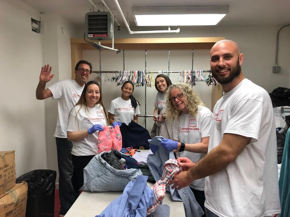 HomeServe employees volunteering in the community