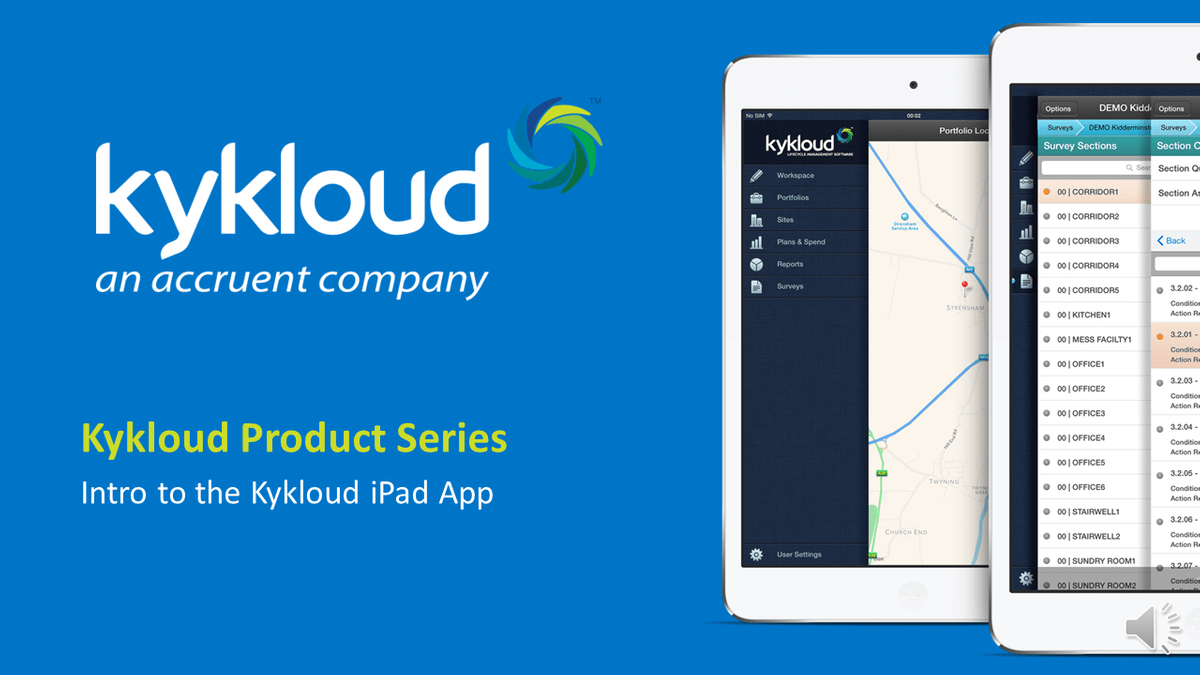Accruent - Resources - Webinars - KyKloud Demo Series Session 1: Intro to the Kykloud iPad App - Hero