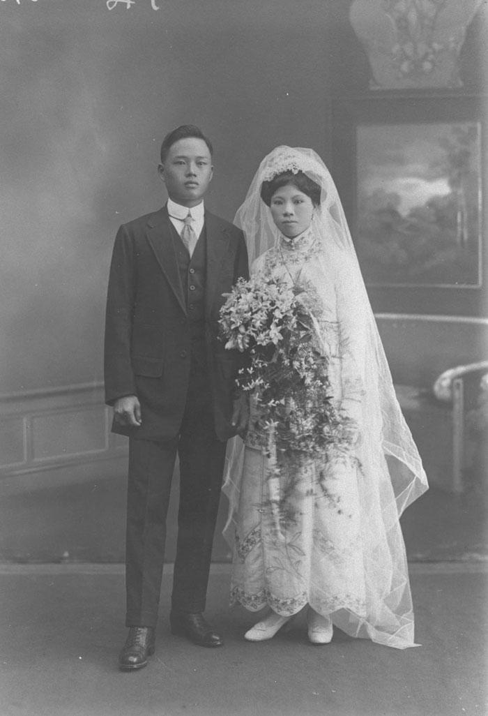 华人婚礼的新人,1920年代