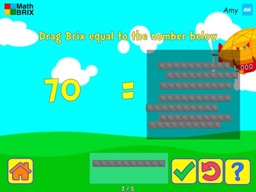 Brix and Base 10: Numbers 10 to 90 are made up of a number of 10's Math Game