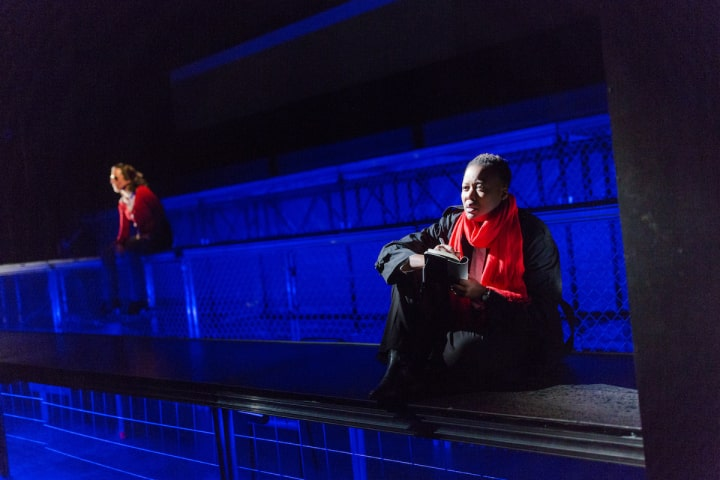 """Robert Thomson's lighting design for the production of """"Intractable Women"""" at Imago Theatre"""