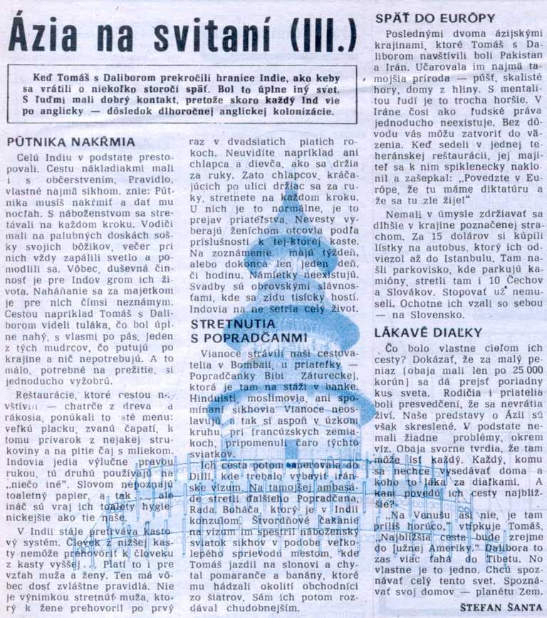 Noviny Poprad: Ázia na svitaní (III.)