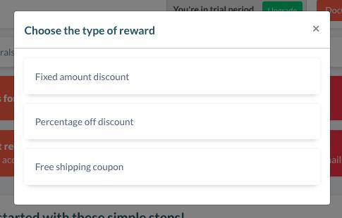 Type of referral reward