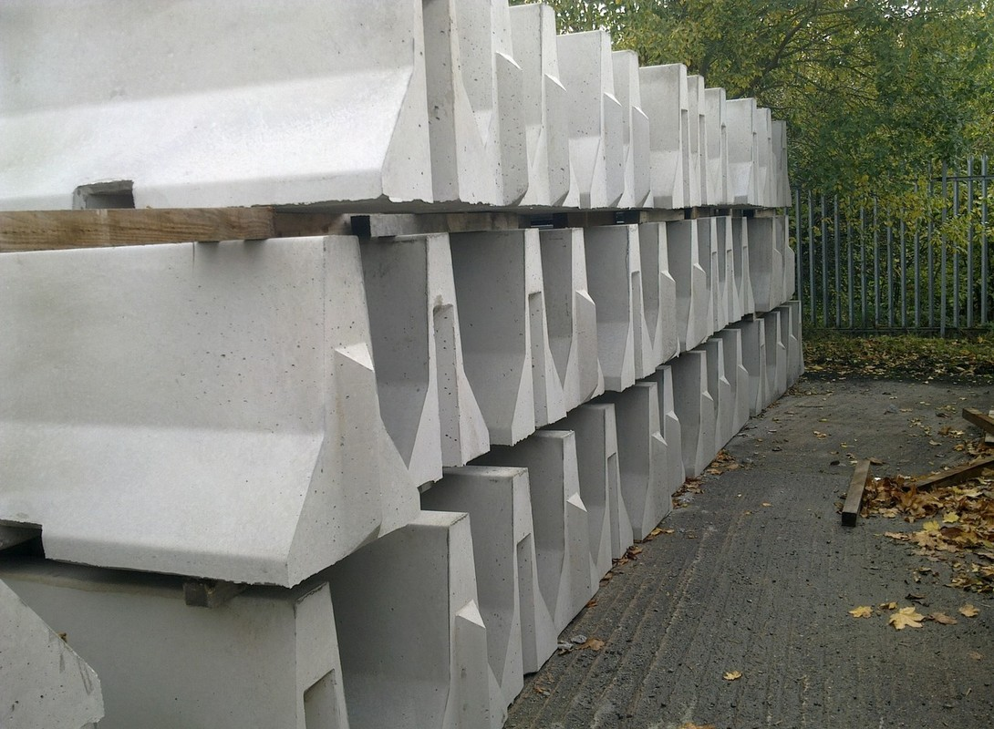 Jersey Barriers - Stacked