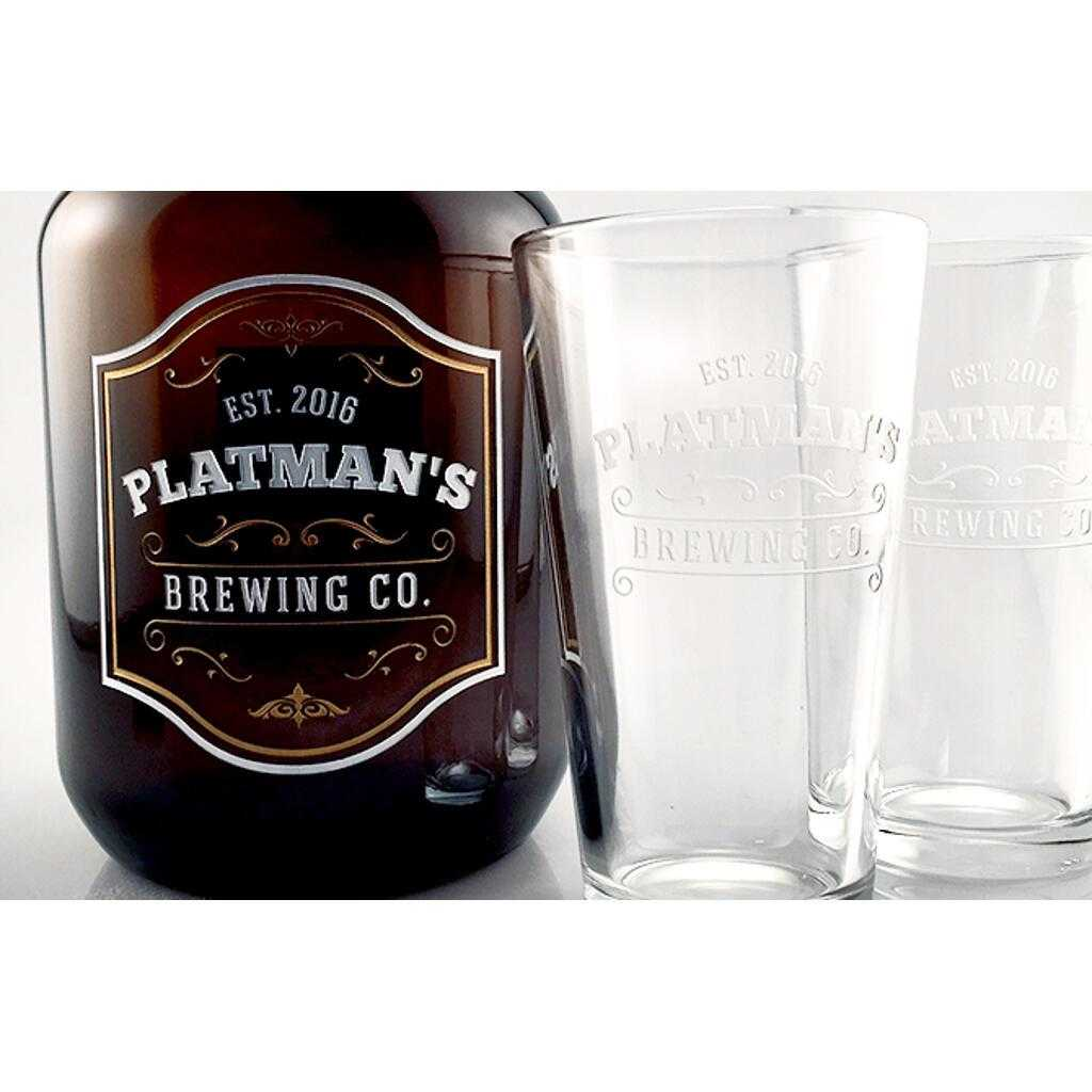 Personalized beer growler gift for beer lovers by Etching Expressions