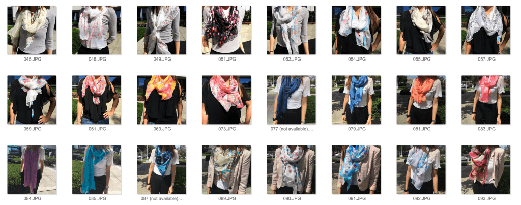 The Scarf Shop sample catalog.