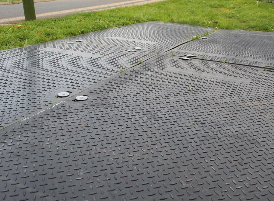 SafeMat Ground Protection Multiple Mats Connected