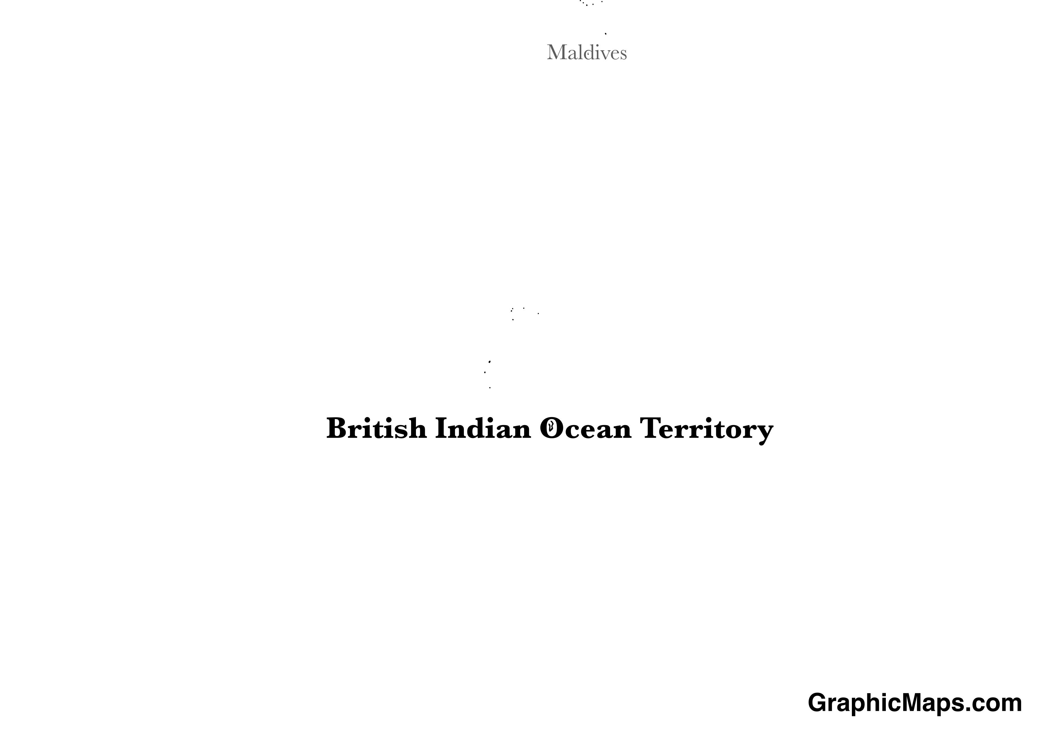 Map showing the location of British Indian Ocean Territory