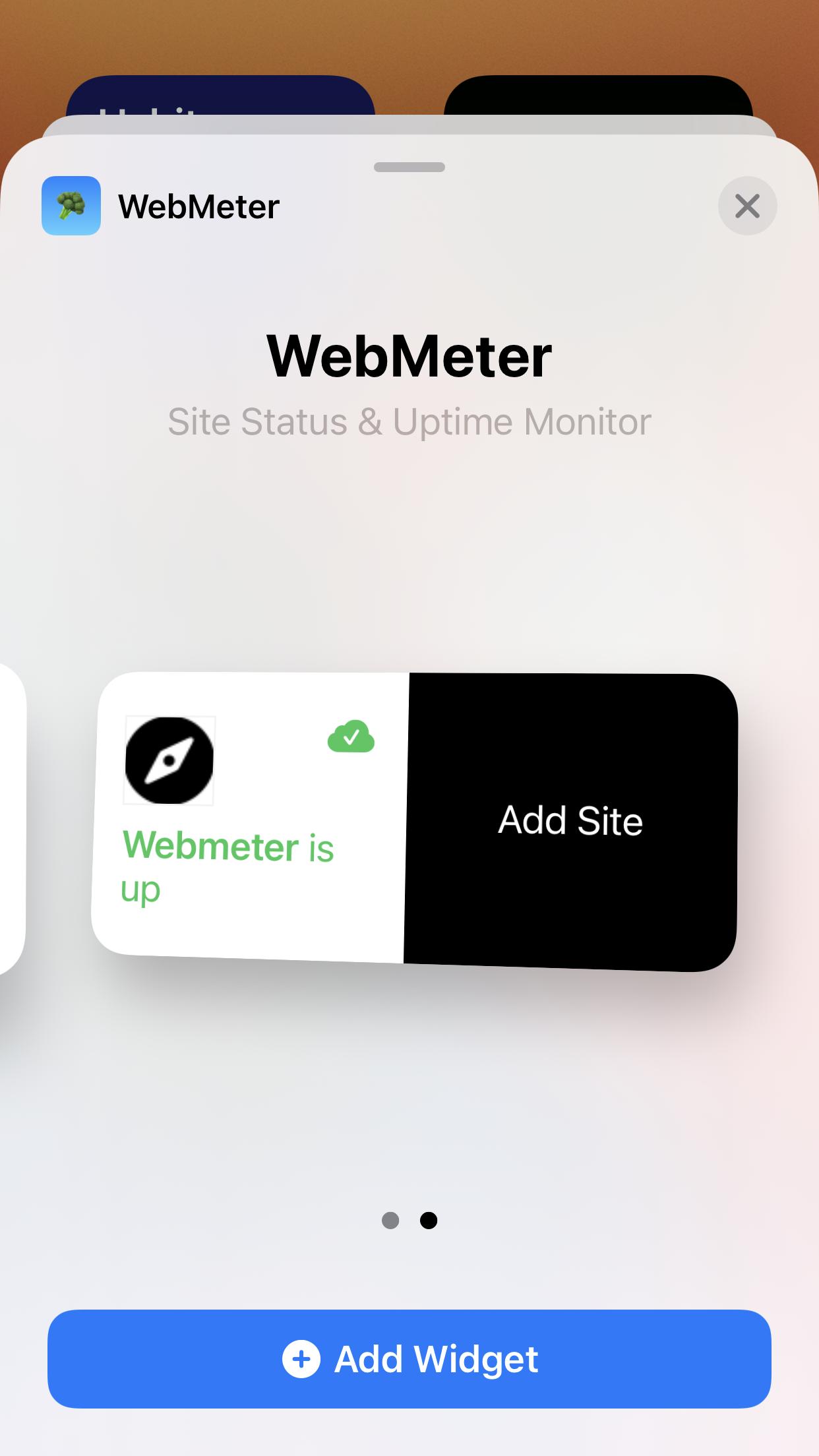 WebMeter widget add