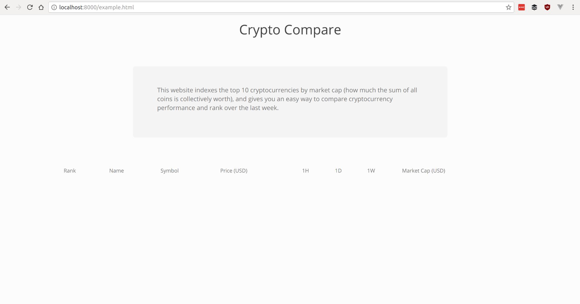 Cryptocompare Screenshot