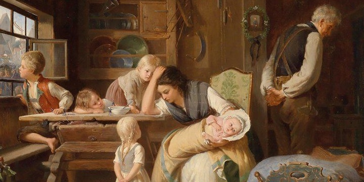August Heyn - The Exhausted Mother