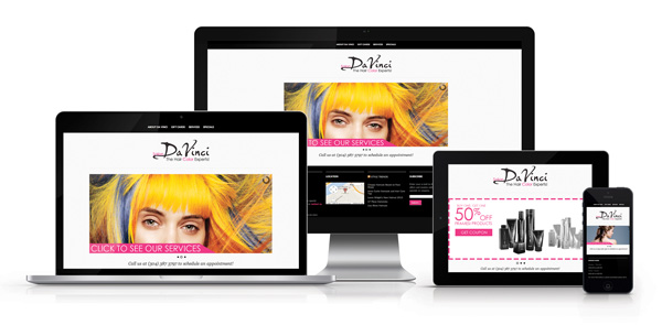 Salon DaVinci Web Design