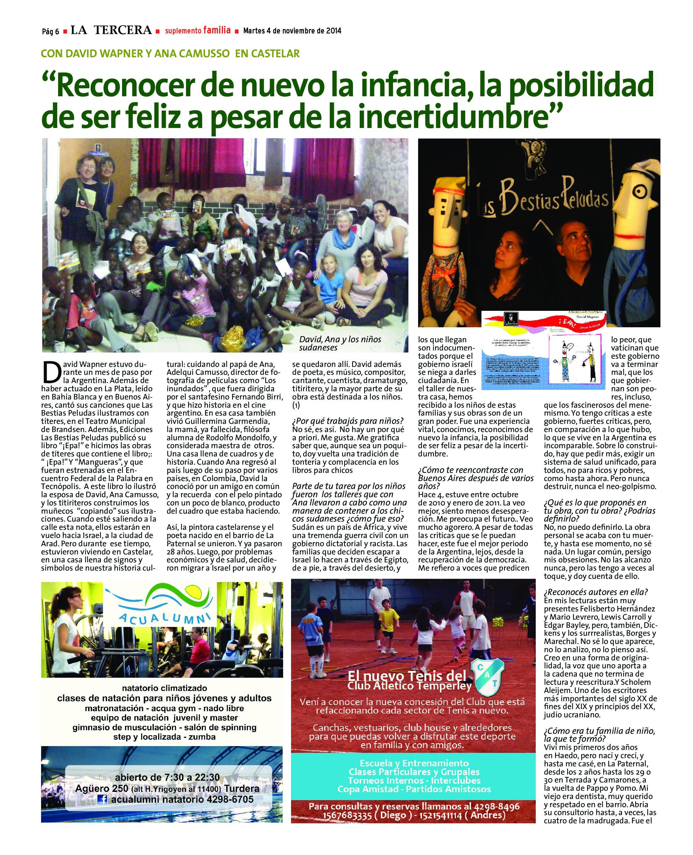 David Wapner Diario La Tercera