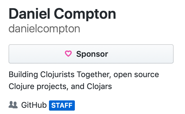 GitHub staff badge for @danielcompton
