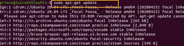 Sudo apt Update Deb Package