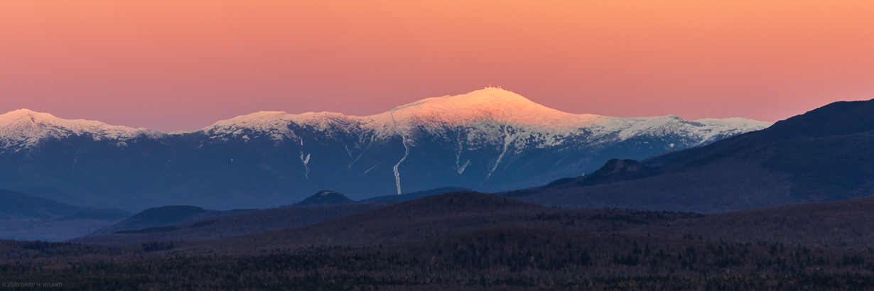 Early Snow Alpenglow in the White Mountains