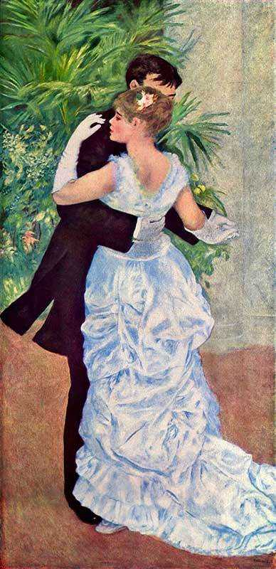 Renoir's Dance in the City is another of his dry period works.