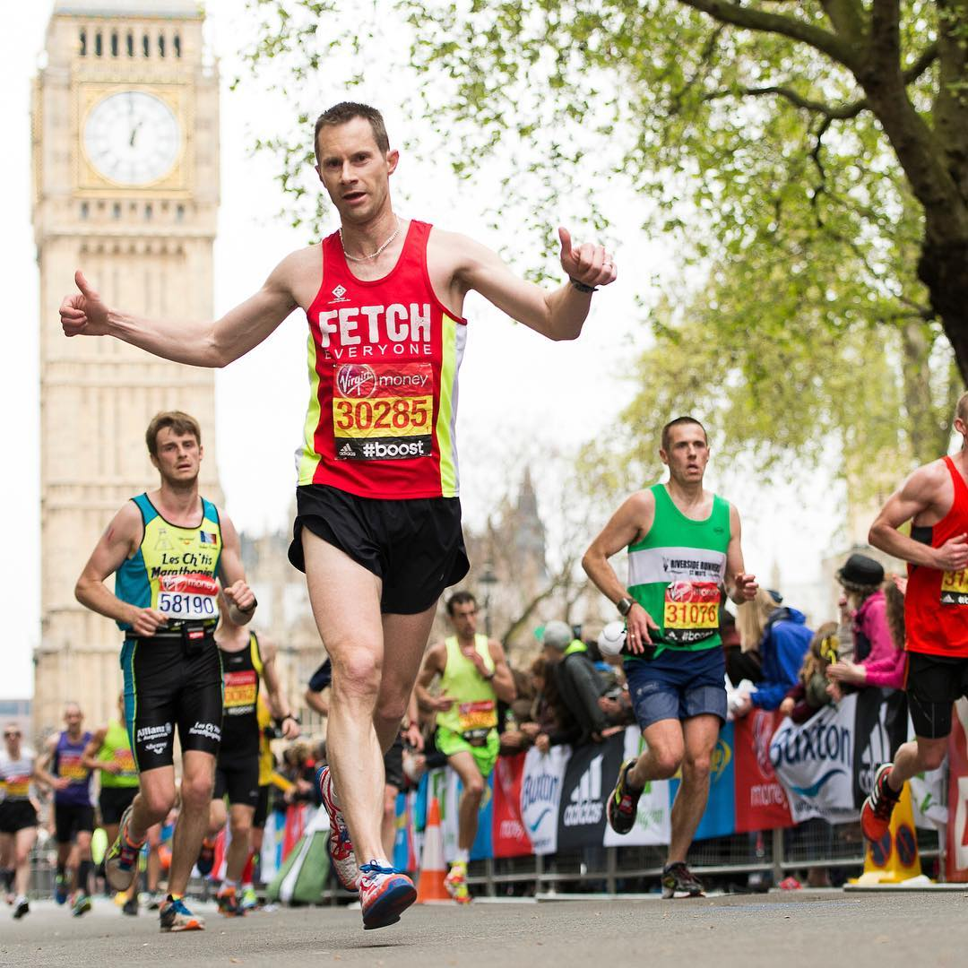 Me at the London Marathon in 2015