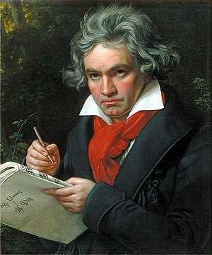 Deutsch: Portrait Beethovens mit der Partitur ...