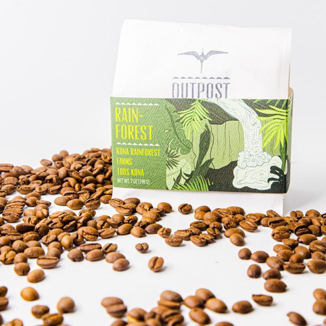 Outpost Coffee | Rainforest 100% Kona Coffee