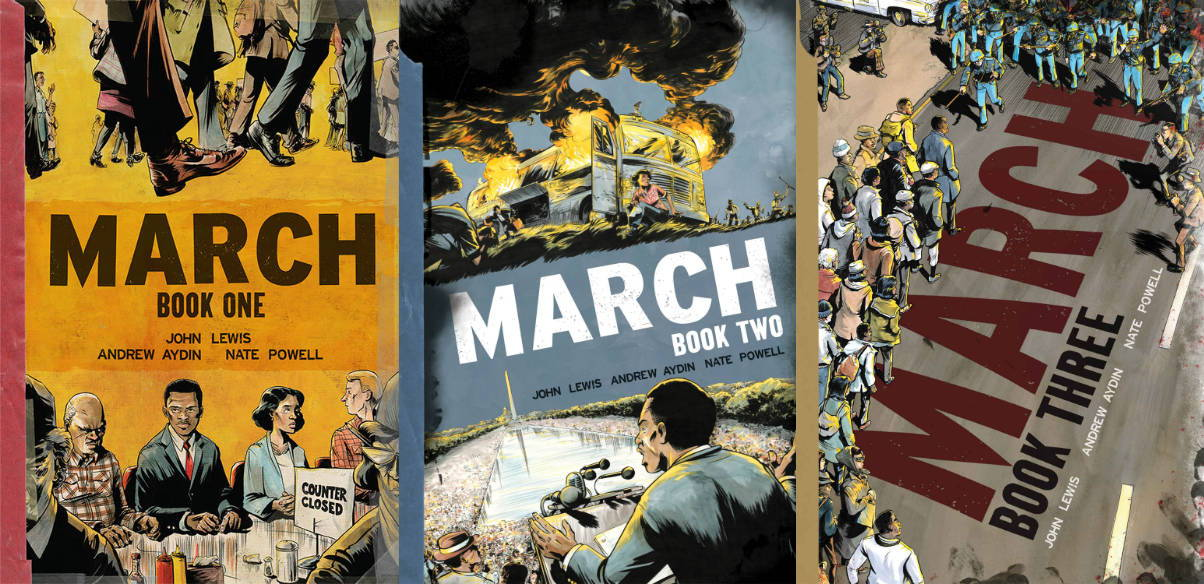 Books 1 thru 3 of March by Rep. John Lewis