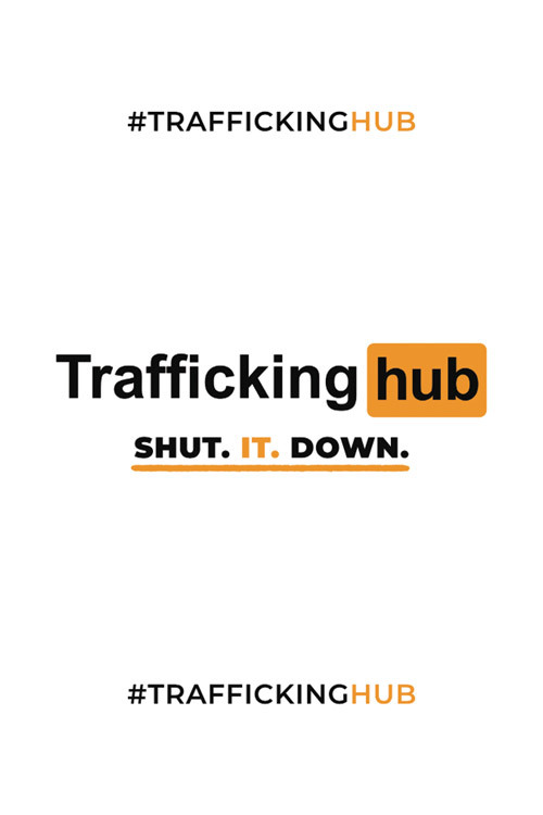Traffickinghub Logo and Tagline Small Poster