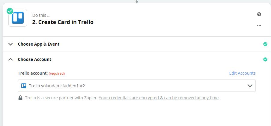 Connect Trello account