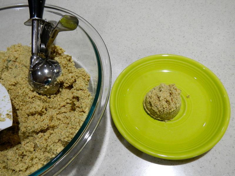 Testing Wetness of Falafel Mix