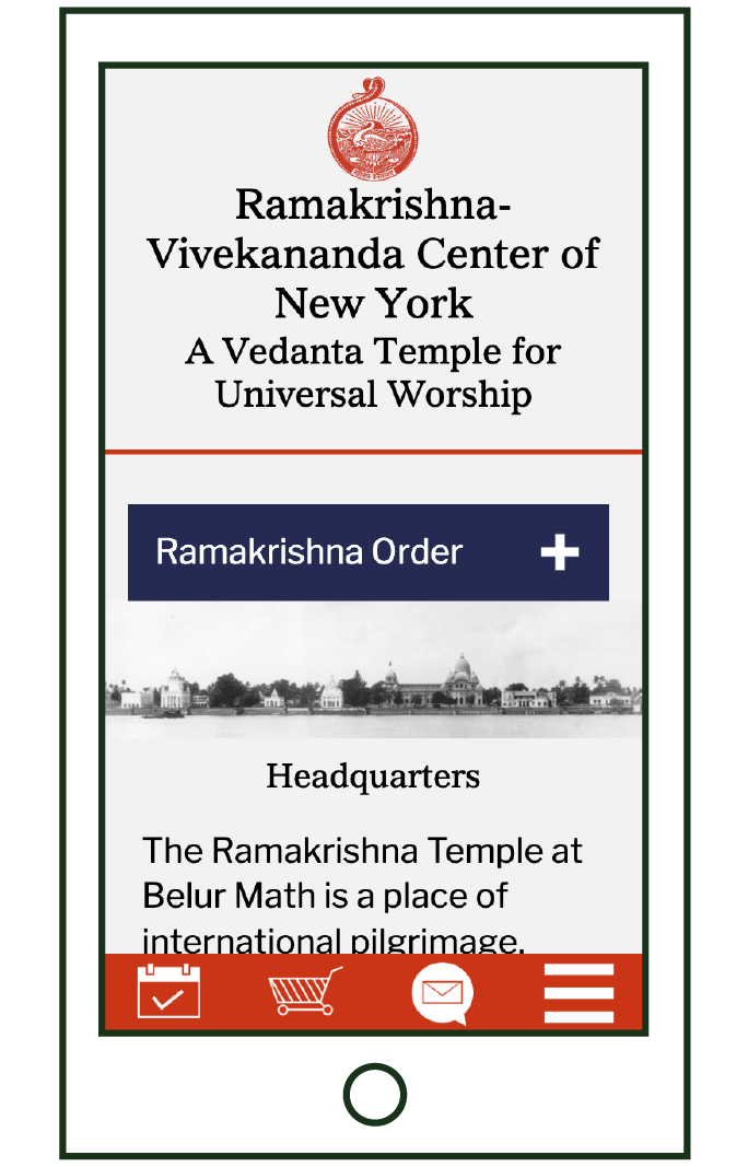 mobile layout of Headquarters page
