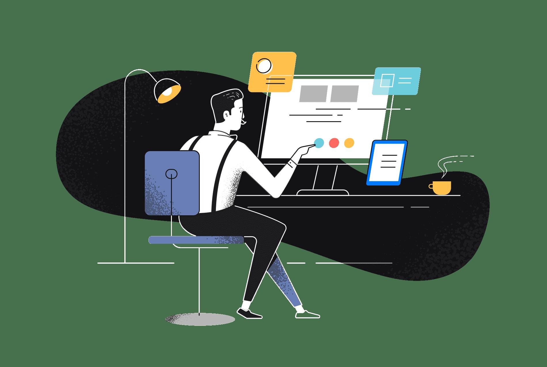 Nico at desk