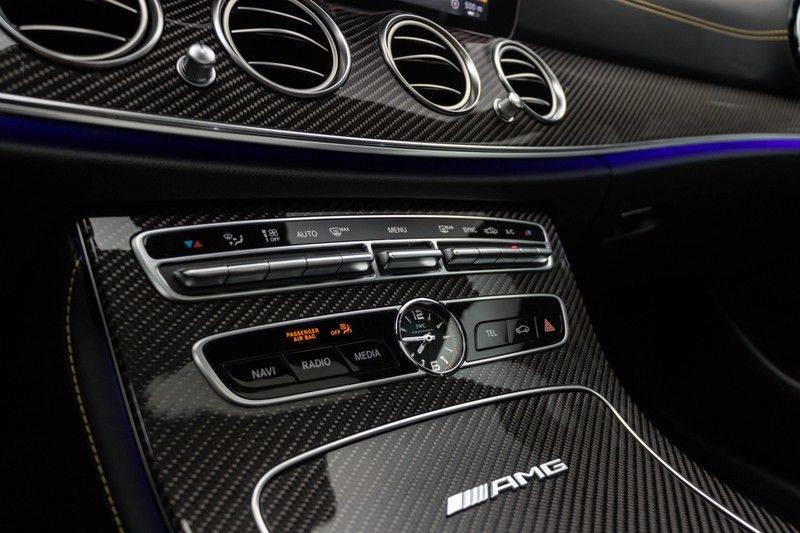 "Mercedes-Benz E-Klasse E63s AMG EDITION 1 4Matic 612pk (MAGNO MAT) Panoramadak Distronic Nightpakket Schaalstoelen Burmester Carbon ComandOnline Keyless 20"" Parktronic Pdc afbeelding 25"