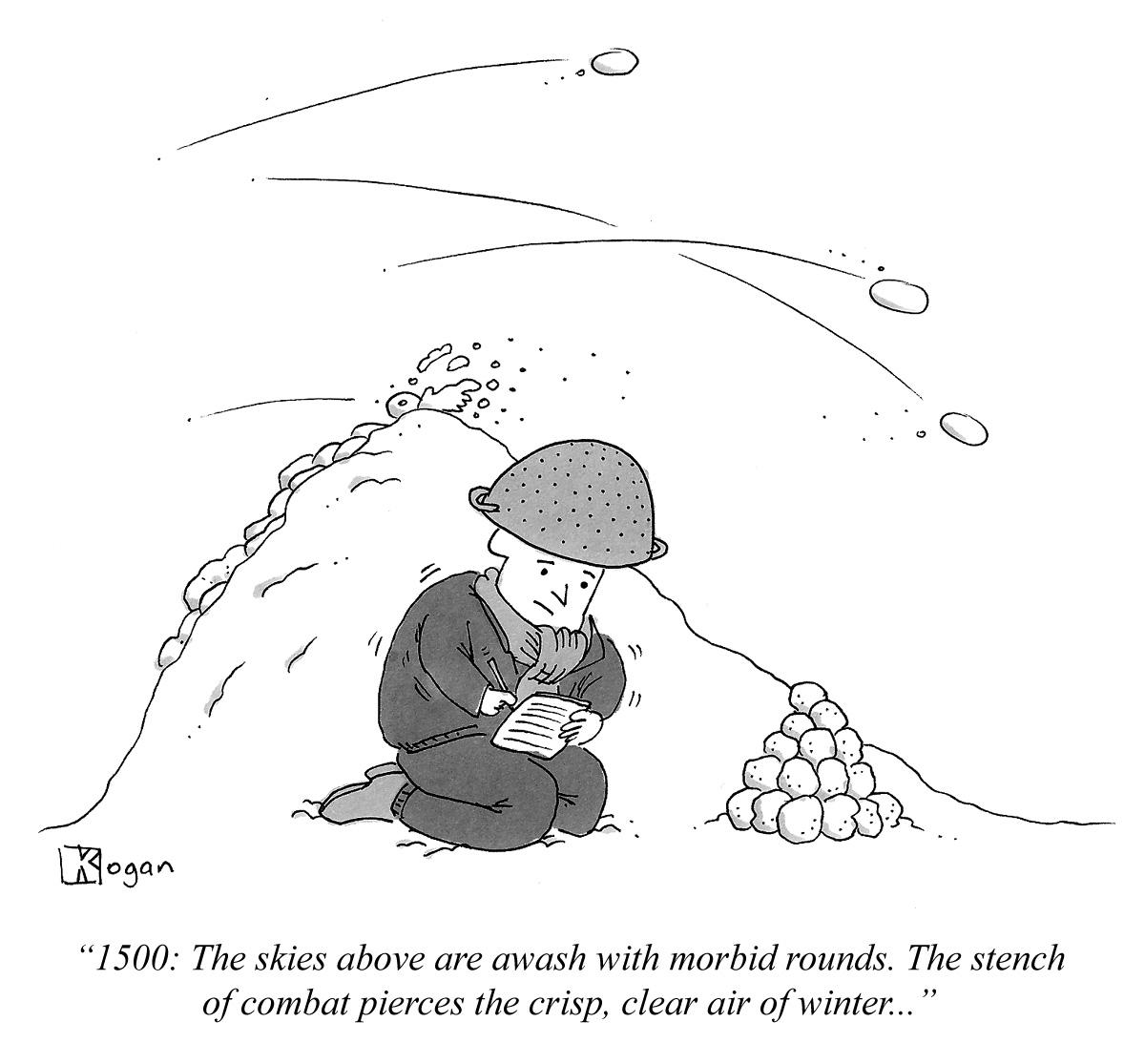 Cartoon about journaling.