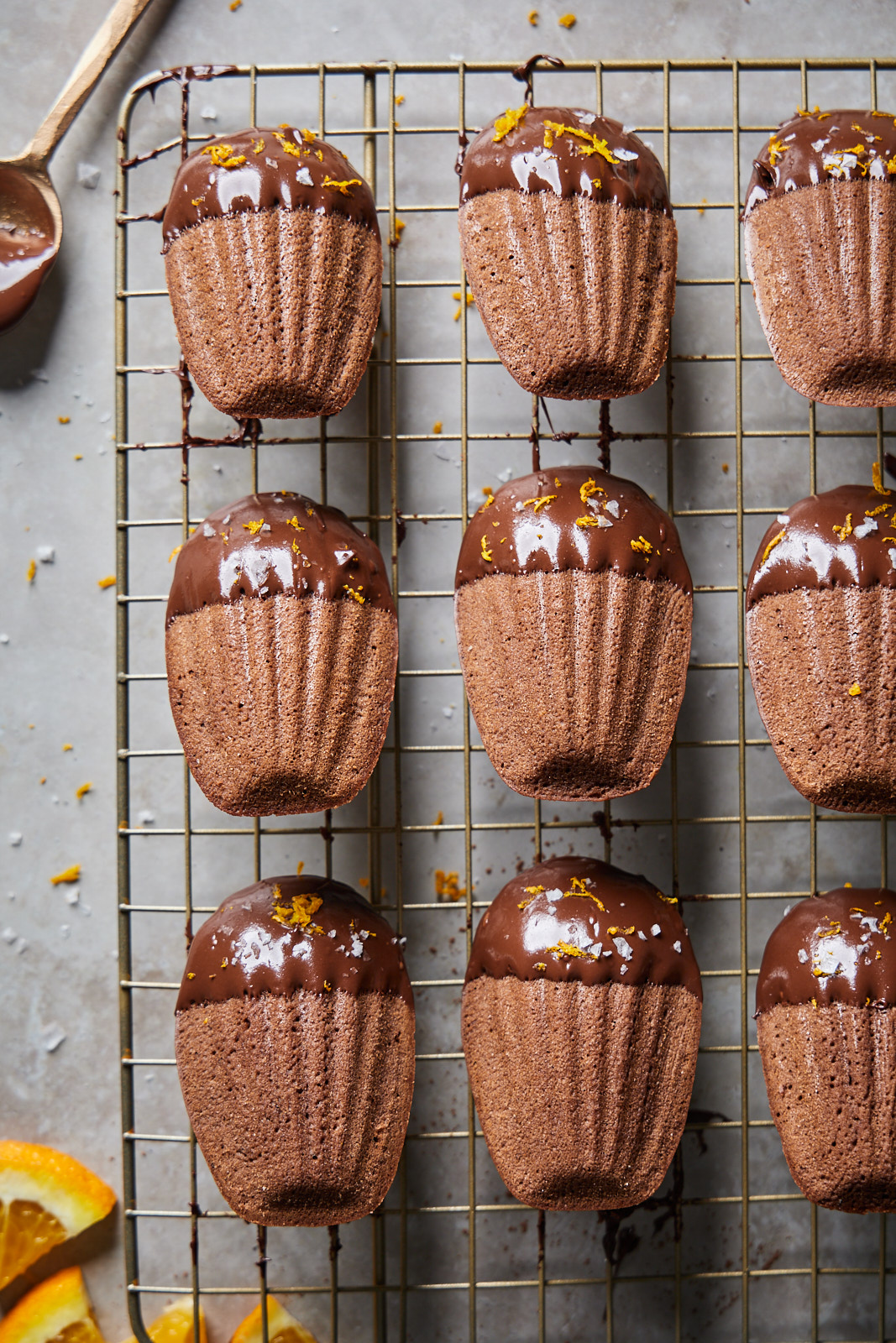 Chocolate Orange Madeleines