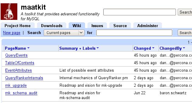 Default wiki list