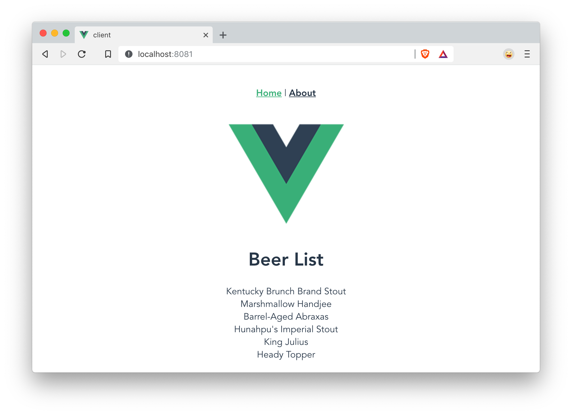 Beer List in Vue