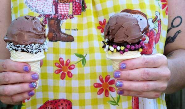 Cute vegan ice cream cones