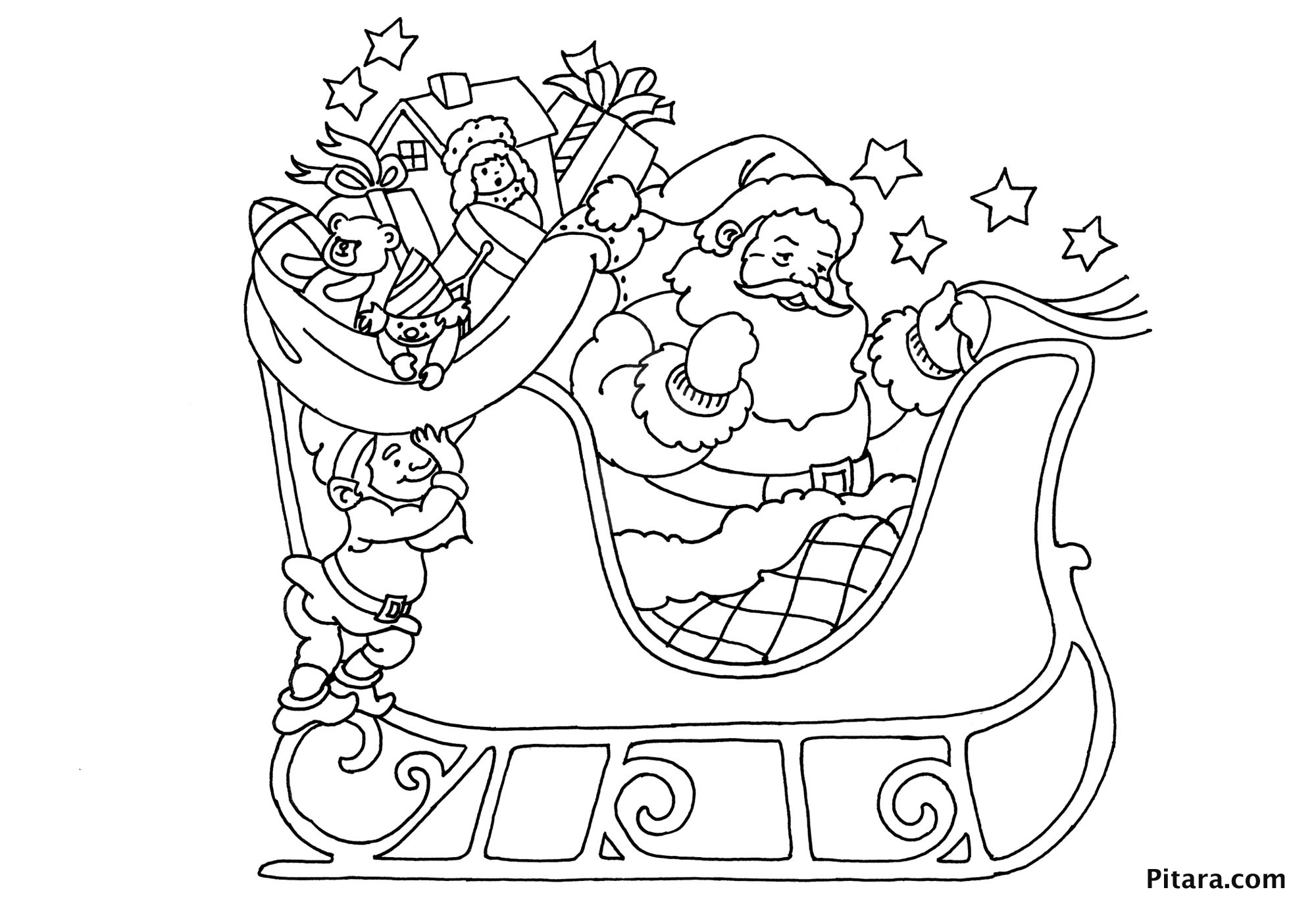 Christmas Coloring Pages for Kids - Pitara Kids Network