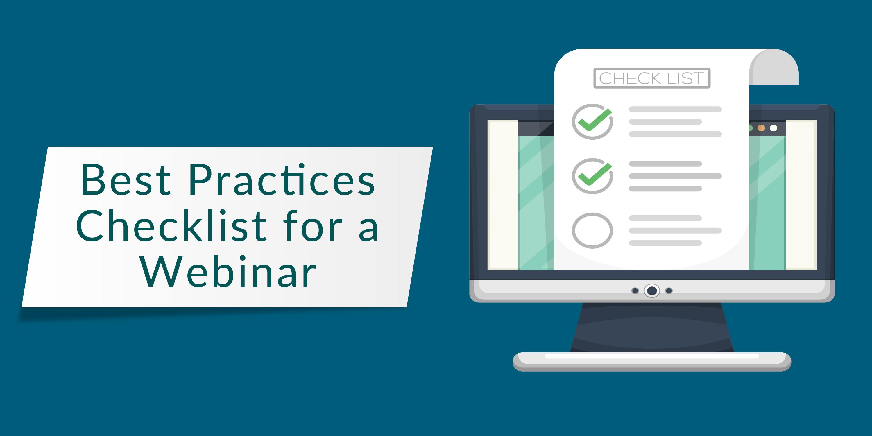 checklists for a webinar