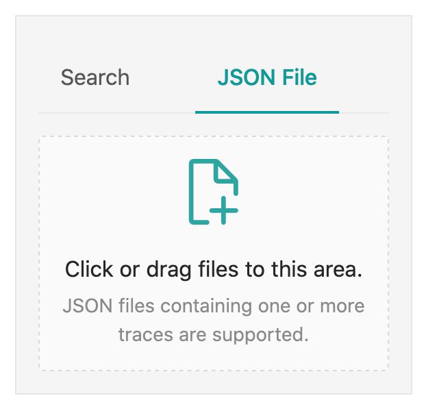 Jaeger Trace Upload JSON
