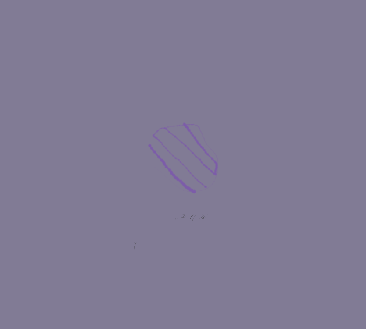 Felt tip browser drawing in quick purple on a cool grey background.