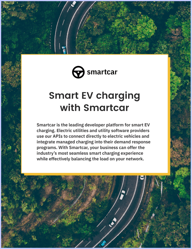 Cover image of the 'Smart EV charging with Smartcar' white paper