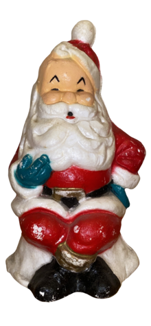 Sitting Sculptured Santa photo