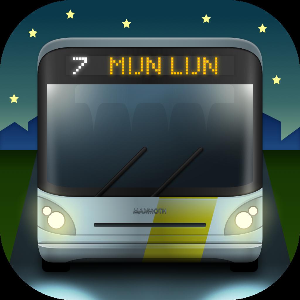 MijnLijn 3.9 and newer logo, dark mode 😎